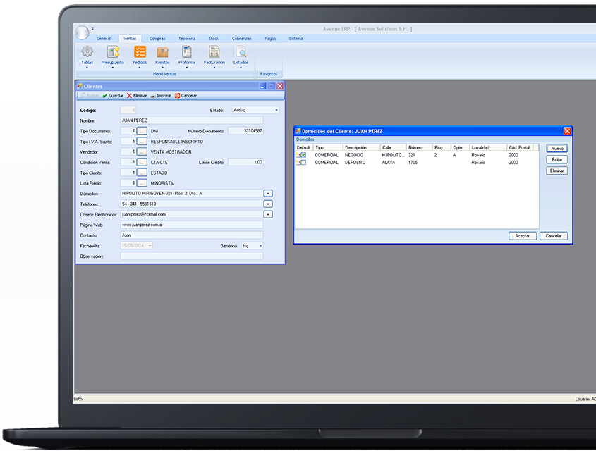 Avenue ERP   Sistema de gestión para PYMES y negocios